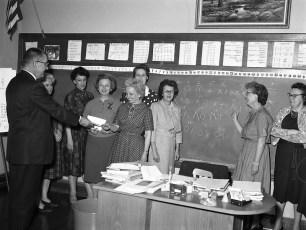 GCS First Modern Math class for current teaching staff 1963