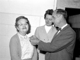 GCS Teacher Recognition Day to Mrs. Pearl Fraleigh by Mrs. Piester & Mr. Andrews 1967