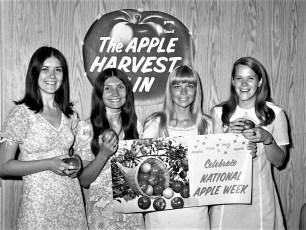 GCS girls celebrate National Apple Week 1970