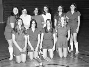 GCS 1973 Badminton Team