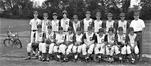 GCS 1972 Babe Ruth Team