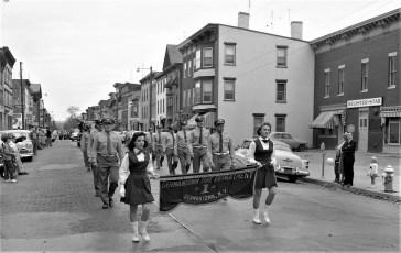 G'town Fire Dept. at Hudson Valley Firemens Parade Hudson 1957
