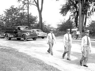 G'town Hose Co. 1943 Chev. Pumper w Buffalo pump 1958