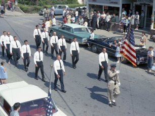G'town Hose Co. march in Memorial Day Parade 1965
