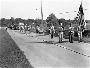 G'town Hose Co. marching in Tivoli parade 1956