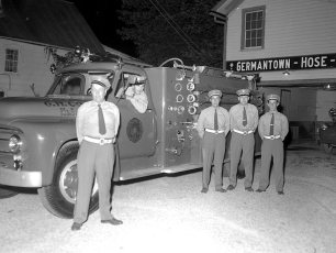 G'town Hose Co. receives new fire truck 1955