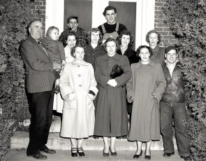Gtel Staff with AJ and Bruce age 3 Dec 1952