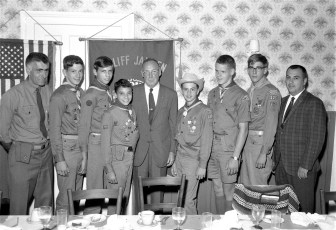 Roe Jan Lions with Boy Scouts back from N.M. 1966