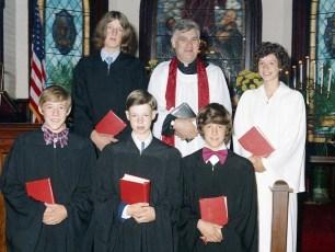 St. John's Lutheran Church Confirmation Ancram 1974