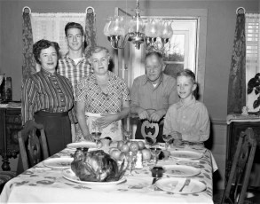 Gibson Family Thanksgiving 1957