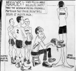 Hudson High Basketball Cartoon (copy) 1954
