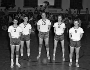 Hudson High Basketball Starting Five 1954