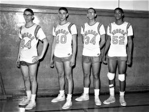 Hudson High School Basketball players 1961