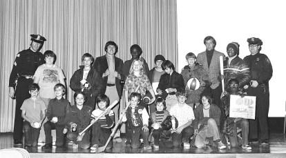 Hudson Police Dept. at Hudson High School 1973