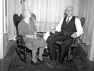 Ernest Lasher's parents of Leland and Lewis 1942