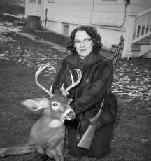Ethel Fraleigh lifelong deer hunter who never missed an opening morning G'town 1956