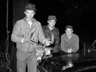 John Nahlik with opening day buck 1958