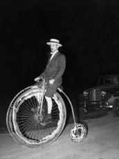 Mr. Jay Moore on high wheeler 1953