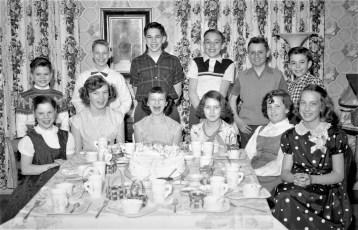 Nancy Yadack Birthday Party 1956