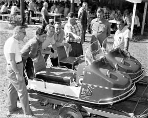 Latest sleds Tom Bower, Harold Jennings, Bob Cole, Bob Altman, Butch Werner, Otis Barringer, Al Mastro 1969