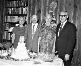 Mr. & Mrs. William Hubert 50th Anniv. 1968
