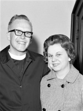 Pastor Osterloh and Audrey Banks 1964