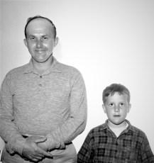 Paul Meacher with son Tom 1965