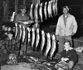 Otty Family's Lake Champlain catch 1971
