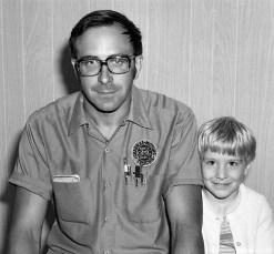William Nack with son Bill 1975