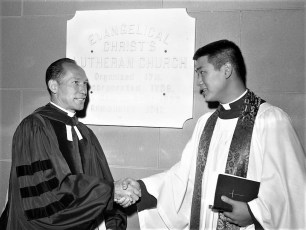 Christ's Lutheran Church 250th Anniversary Pastor Moy & Dr. Potter 1960