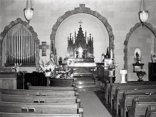 Lutheran Church interior 1949