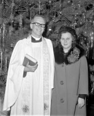 Rev. Herman Osterloh with Audrey Banks 1964