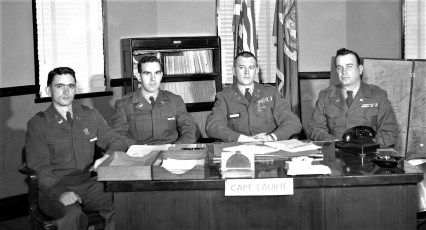 NYS National Guard Capt. Laurie & Officers 1955