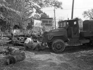 NYS National Guard clear American Legion property Hudson 1959