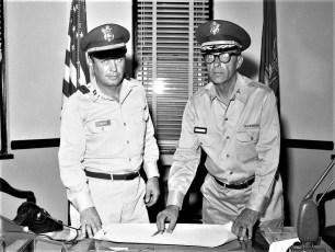 National Guard Capt Robert Fingar with Major Dave Ensign 1960