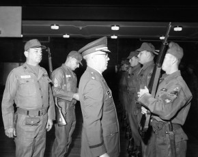 National Guard Federal Inspection Major Cosman with Capt. Robert Fingar Hudson 1966 (1)