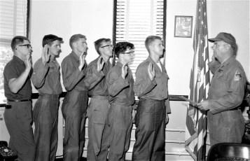 National Guard new recruits sworn in by Capt. Robert Fingar Hudson 1965 (1)
