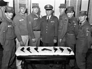National Guardsmen with Capt. Robert Fingar 1960