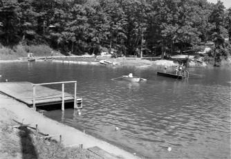 Oakdale Lake Lagoon Pool built by NYS National Guard Hudson 1956 (2)