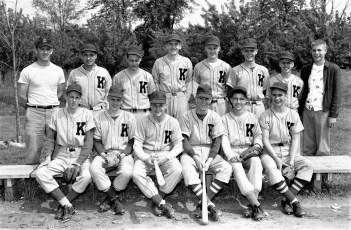 Ockawamick Central School Baseball Team 1956