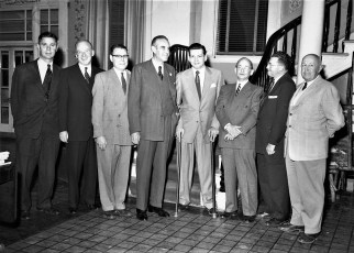 Averell Harriman meets with Hudson City officials 1954