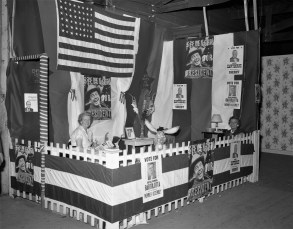 Democrat Booth at the Col. Cty. Fair 1956