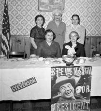 Democrat Club Officers for Stevenson General Worth Hotel Hudson 1956