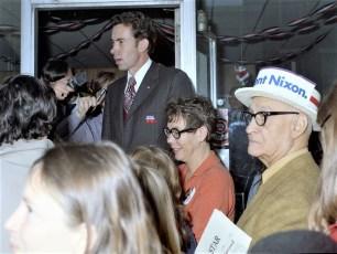 Edward Nixon visits Hudson 1972