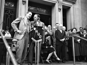 Gov Tom Dewey Col Cty Court House 1950