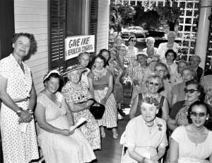 Mrs. Fleming Hubbard hosts fellow Republicans Gtown 1956 1