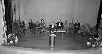 Nelson Rockefeller visits Chatham High School 1956 (2)