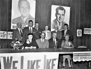 Republicans meet at the Elks Club Hudson 1956