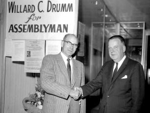 Willard Drumm with Nathan Wild campaigning in Hudson 1962