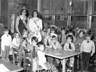 Col. Cty. Dairy Princess & Dairy Maid visit St. Mary's Academy 1977